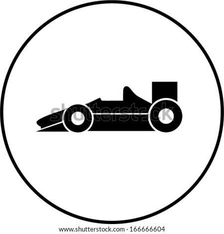 racing car symbol - stock vector