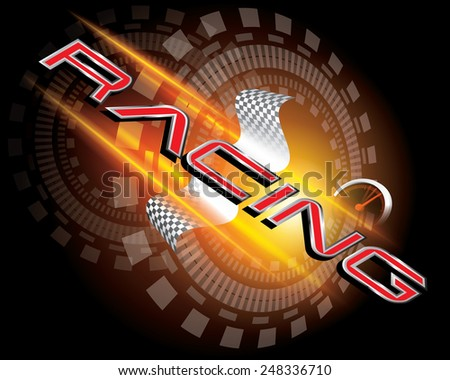 RACING CONCEPT VECTOR - stock vector