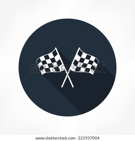 racing flag icon - stock vector
