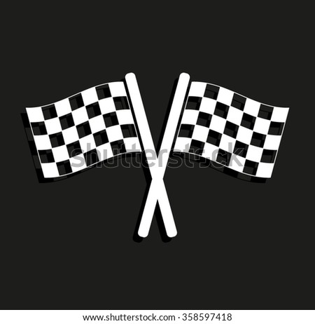 Racing flag -  vector icon with shadow