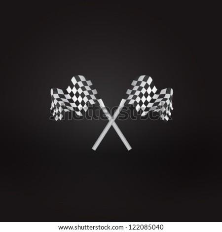 racing flags - stock vector