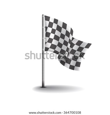 Racing flags isolated on light background. Speed flags for web sites, flayers and printing.