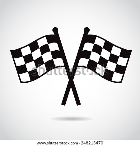 Racing flags. Vector illustration. - stock vector
