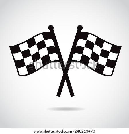 Racing flags. Vector illustration. - stock vector