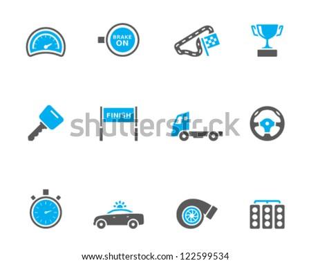 Racing icon series in duo tone color - stock vector