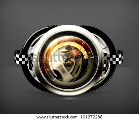 Racing icon, vector - stock vector