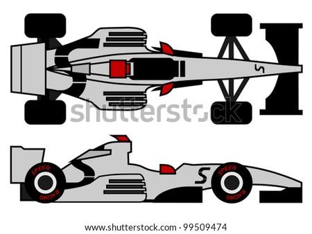 Racing tech - stock vector