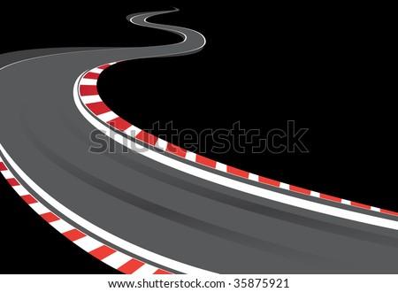 Racing Road Vector Racing Track Stock Vector