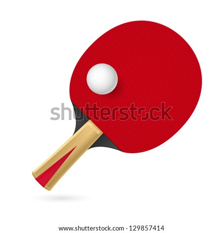 Racket for playing table tennis. Illustration on white background - stock vector