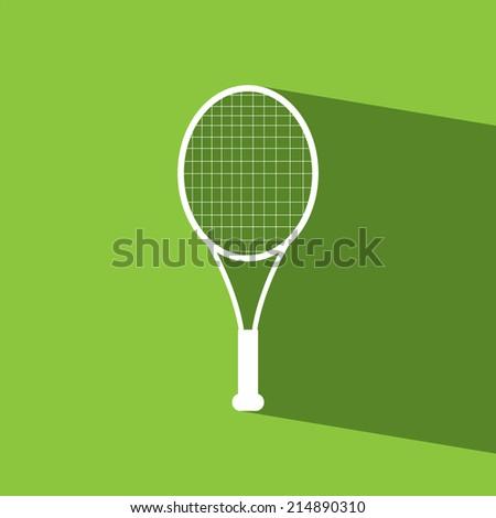 Racket tennis flat icon  vector illustration eps10   - stock vector