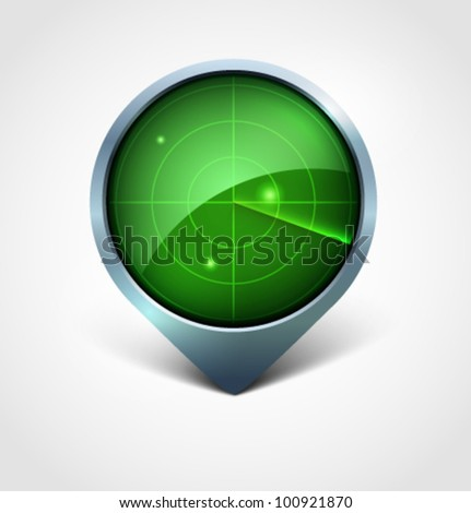 radar - stock vector
