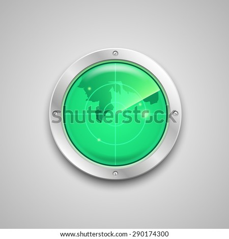 Radar icon. Illustration - stock vector