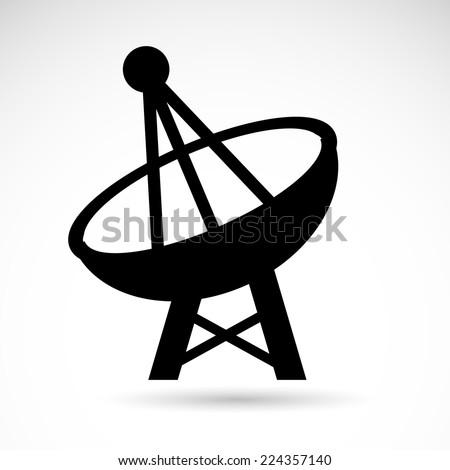 Radar icon isolated on white background. VECTOR art. - stock vector