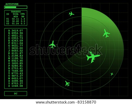 Radar screen.Vector illustration AI8 compatible. - stock vector