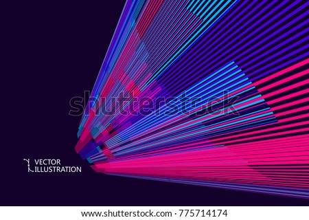 Radial abstract graphic, vector background.