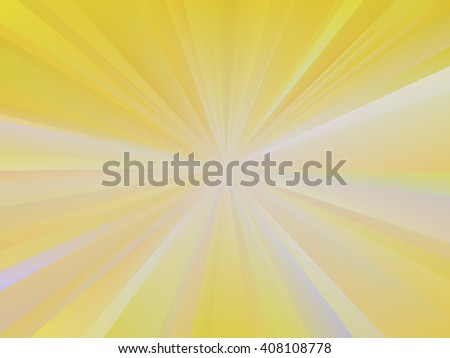 Radial background with abstract sunshine. Yellow background with radial blur effect. Multicolor shades of colors, special effect. Not trace image, include mesh gradient only. Vector EPS10 - stock vector