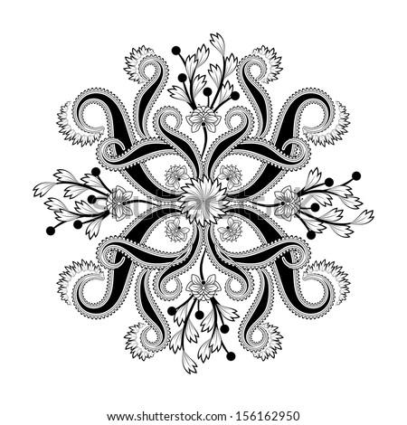 Radial geometric pattern - stock vector