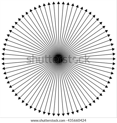 Radial - radiating lines outwards from center point