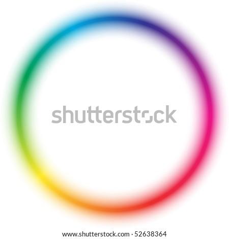 Radial rainbow pattern - stock vector