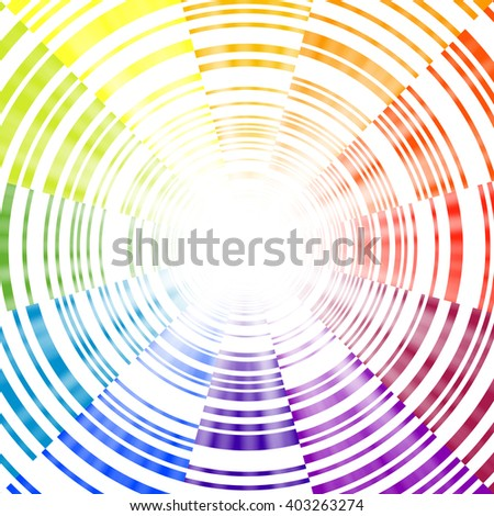 Radial spectrum background - stock vector