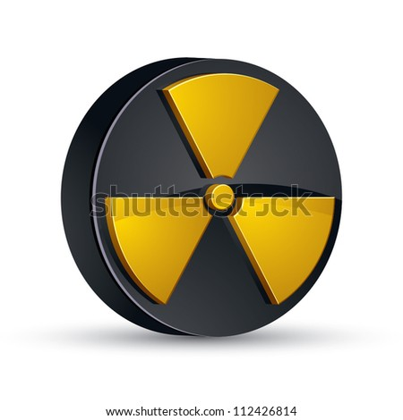 Radiation 3d vector icon.