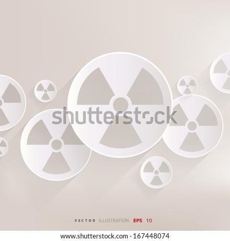 Radiation danger icon - stock vector