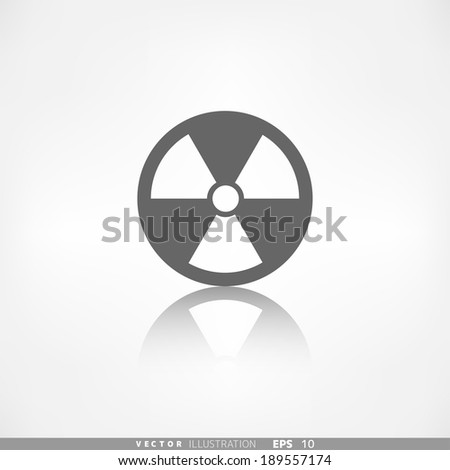 Radiation danger icon - stock vector
