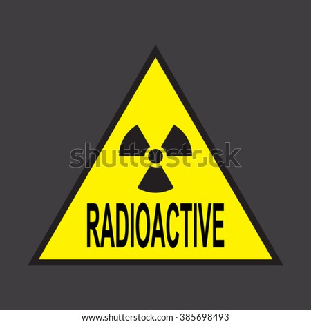 Radiation hazard sign made by the Russian national standard