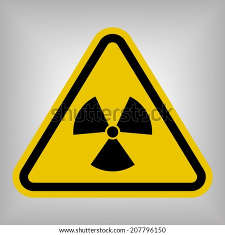 Radiation Hazard Sign Symbol - stock vector