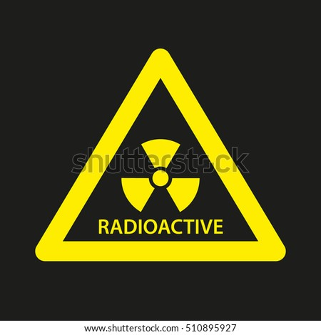 Radiation Icon. Symbol In Vector Graphic Style