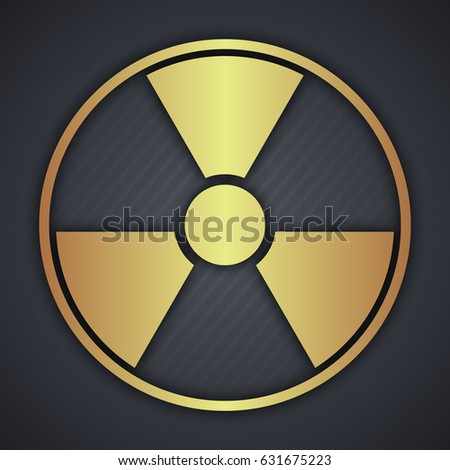 Radiation Round Sign isolated on black background. Vector illustration.