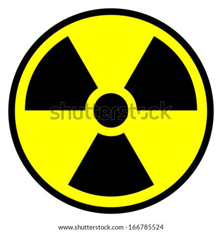 Radiation round sign - vector illustration.