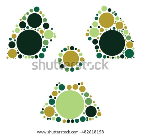 radiation shape vector design by color point