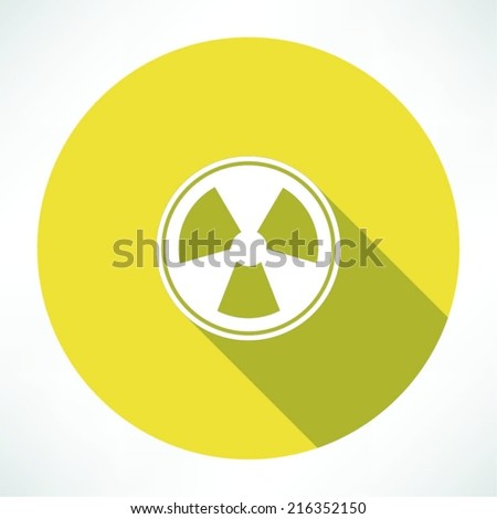 Radiation sign icon - stock vector