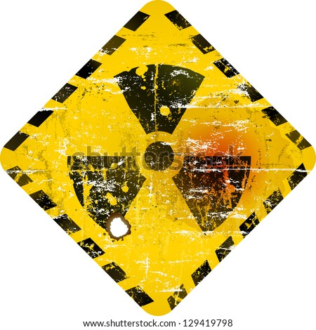 radiation sign, nuclear power warning sign
