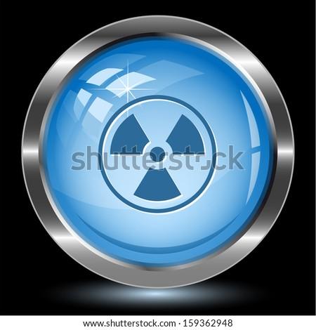 Radiation symbol. Internet button. Vector illustration. - stock vector