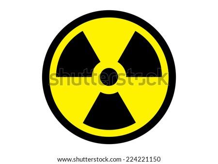 Radiation Symbol. Vector - stock vector
