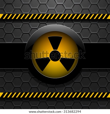 Radiation warning, vector illustration eps 10 - stock vector