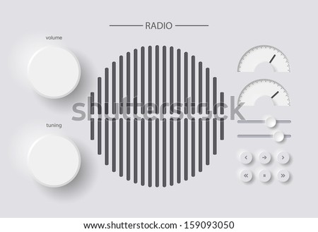 radio - stock vector