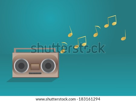 Radio and music - stock vector