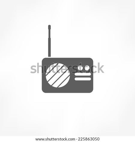 radio icon - stock vector