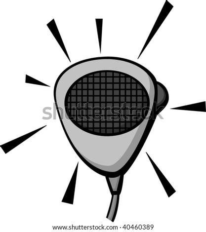 radio microphone - stock vector