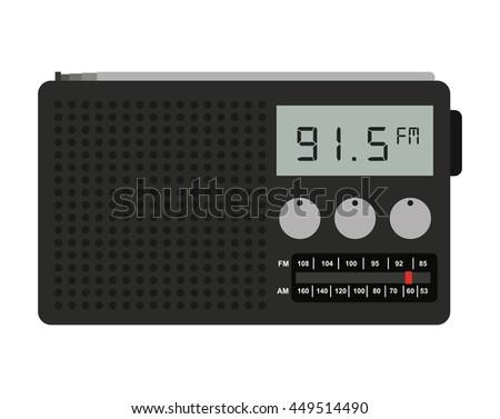 radio portable isolated icon design, vector illustration  graphic  - stock vector