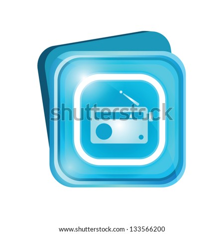 Radio sign - stock vector