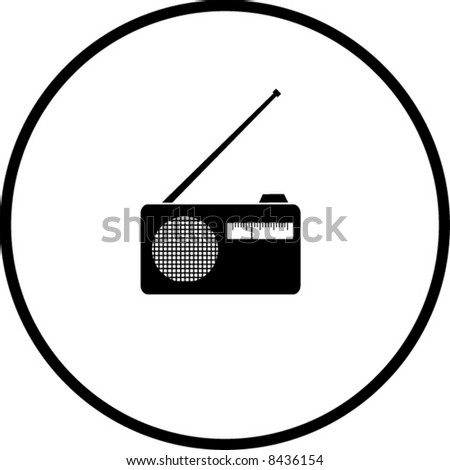 radio symbol - stock vector