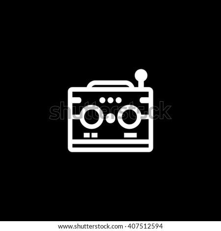 Radio Transistor Vector Icon Illustration - stock vector