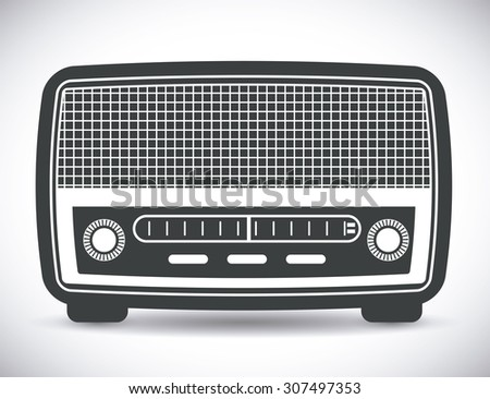 Radio vintage design, vector illustration eps 10.