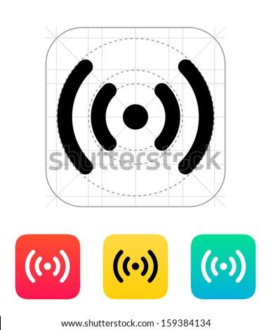 Radio waves icon. Vector illustration. - stock vector