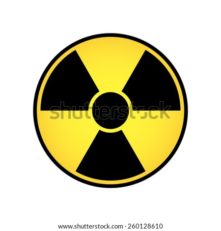 Radioactive cicle sign vector - stock vector