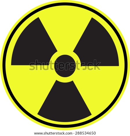 Radioactive contamination symbol - Illustration - stock vector